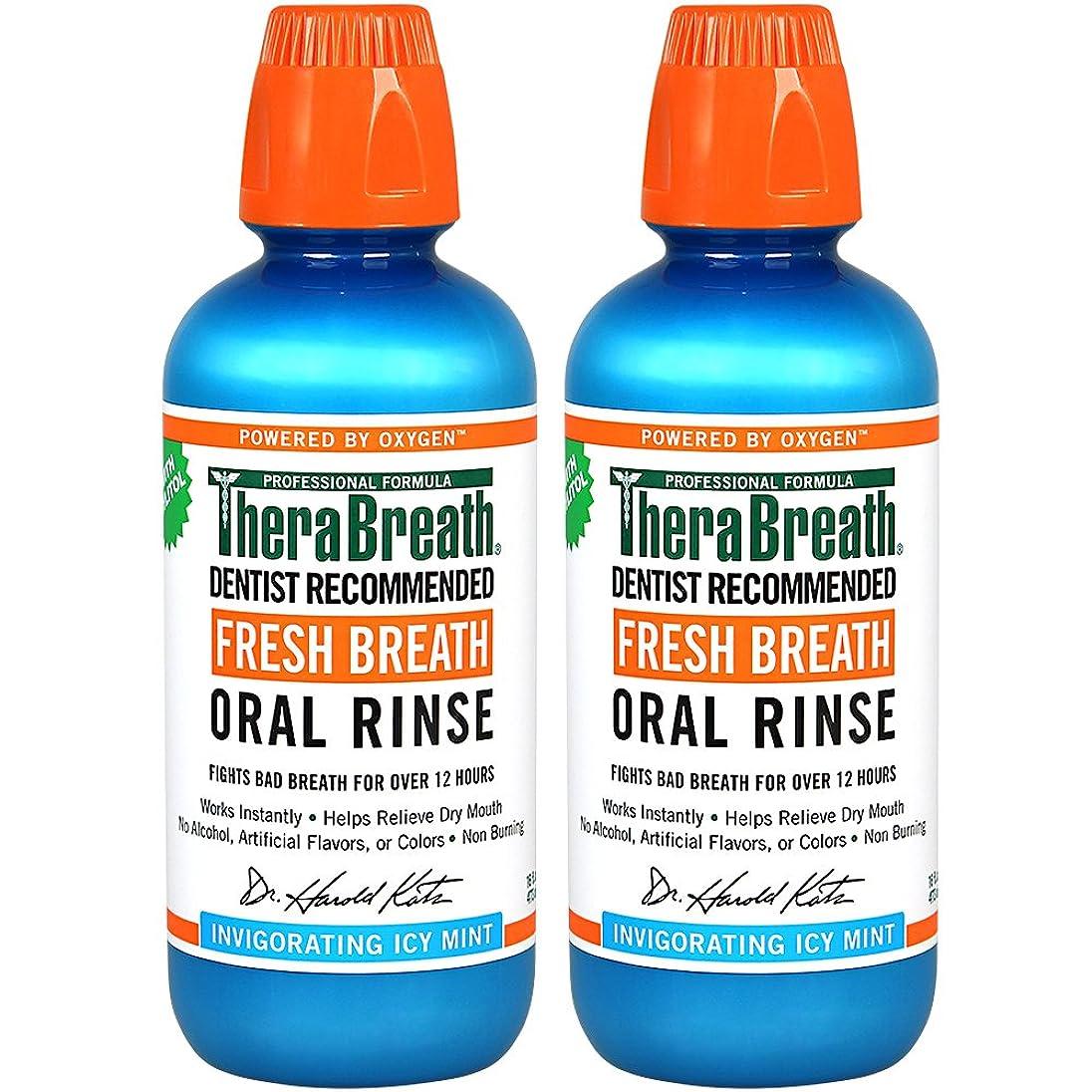 過去淡いミネラルThera Breath ORAL RINSEミントフレーバー 473ml 2本[並行輸入品]