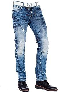 Cipo /& Baxx Jeans Herren Regular Slim Hose 155 Blau Denim Freizeit Mens Pants