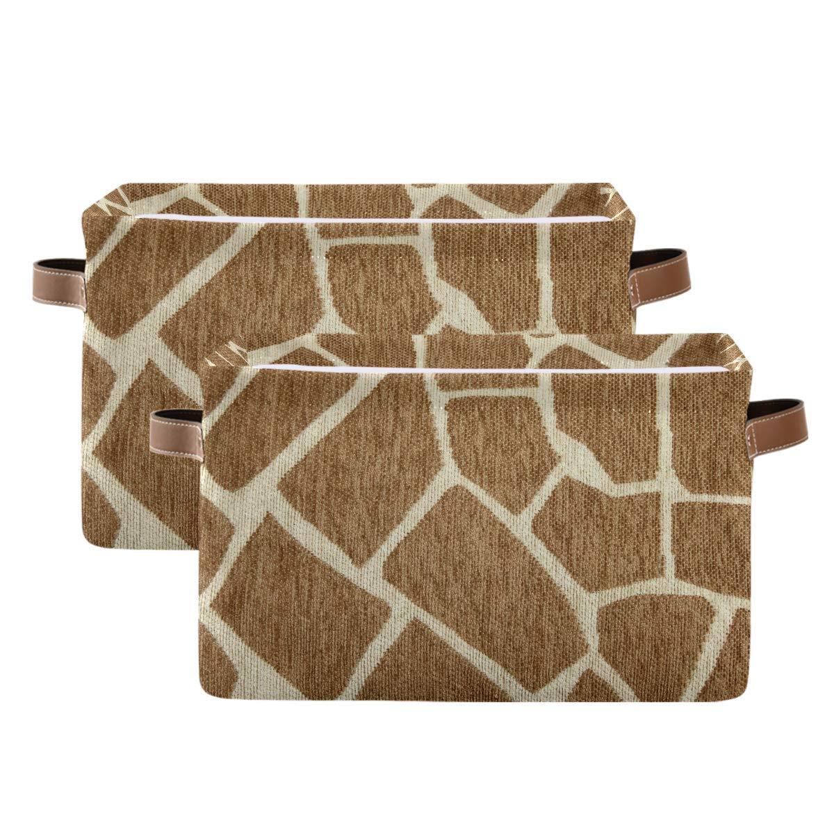 WXLIFE Storage Basket Bins Giraffe Print Skin Stora Super beauty product restock quality top Large Animal Sale SALE% OFF