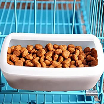 Guardians Small Crate Dog Food Container Water Feeder Bin Double Use Bowl Pet Supplies for Dogs Cats Puppies Pig Crate Hanging Pan Cage Plastic Dish