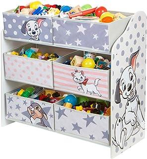 Hello Home Meuble de Rangement Classique pour Chambre d'enfant avec 6 bacs 60 x 63,5 x 30 cm