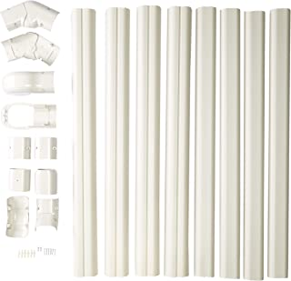 PVC Line Set Cover Kit for Mini Split Air Conditioners and Heat Pumps