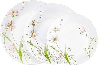 comprar comparacion Dajar Selma - Vajilla (18 piezas) ARCOPAL - Cristal, color blanco rosa verde, 31,3 x 16,1 x 29,7 cm, unidades