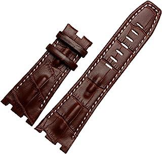 28MM Black Leather Watch Band Strap Fits for Audemars Piguet Royal Oak AP100