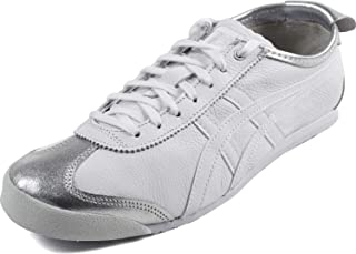 Onitsuka Tiger by Asics Unisex Mexico 66 Silver/White 12.5 M US Medium