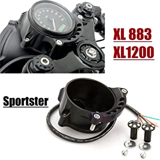 Black Cafe Gauge & Headlight Mount for Harley Sportster IRON XL883 1200R Nightster Roadster 08-13