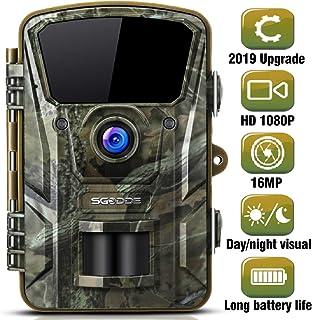 SGODDE Wildkamera,16MP 1080P Full HD 5.0 Jagdkamera Infrarot Nachtsicht bis zu 65 Fuß/20m,42 IR LEDs Bewegungsmelder 120 ° Weitwinkelobjektiv IP66 Wasserdicht 2.4' LCD 0,7 Sekunden Auslösezeit (A)