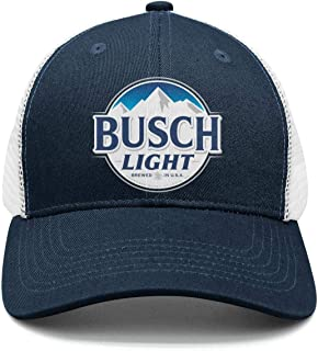 Style Busch-Light-Beer-Sign- Snapback Hat Designer mesh Cap