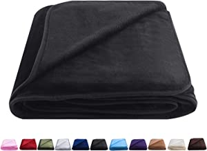 "OBOEY Polar Fleece Blankets Queen Size for Spring Summer All Season 350GSM Lightweight Microfiber Anti-Static for Bed, Couch, Home, Sofa, Car, Airplane, and Outdoors 90"" x 90""(Dark Gray Queen)"
