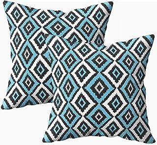 Ducan Lincoln Pillow Case 2PC 18X18,Fundas De Almohada,Fundas De Funda De Almohada De Tiro Cuadrado Arte Tribal Abstracto Patrón Étnico Popular Repetir Textura De Fondo Tela De Impresión Geométrica
