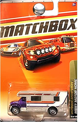 2010 MATCHBOX de plein air SPORTShomme  78 violet MBX MOTOR HOME by Matchbox