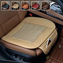 Suninbox Car Seat Cushion,Beige Car Seat Covers[Bamboo Charcoal] Tan Bottom Car Seat Protector,Breathable Comfortable Automotive Universal Fit Seat Covers[Beige]