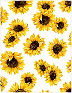 kksme 58 x 80 Inch Sunflower Cluster Soft Throw Blanket for Bed Couch Sofa Lightweight Travelling Camping Throw Size for Kids Boys Women All Season…