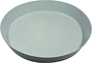Case of 5, Austin 18 inch Saucer Granite colored heavy duty polypropylene for indoor and outdoor plant use, Made in USA, flower pot drip pan, planter drainage saucer