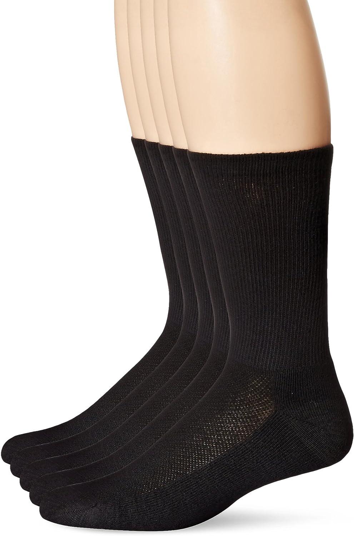 Hanes Men's 5-Pack Ultimate FreshIQ X-Temp Crew Socks (Shoe Size 6-12)