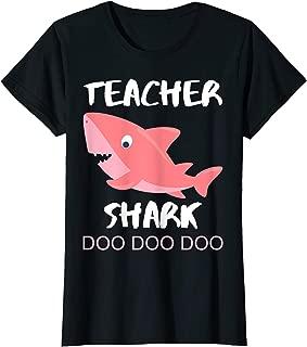 Womens Teacher Shark Shirt CHRISTMAS GIFT 2019 Girlfriend Women Her T-Shirt