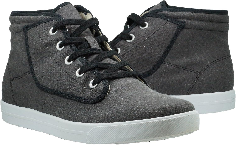 Burnetie Men's Carbon Black York-Hi High Top Sneaker