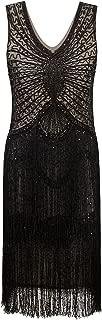 1920s Style Inspired Charleston Sequin Layer Tassel Cocktail Flapper Dress