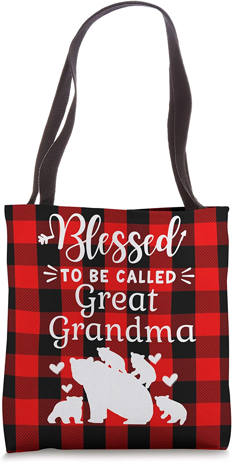 Blessed To Be Called Great Grandma Bear With Great Grandcubs Tote Bag