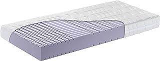 OrthoMatra KSP 3000 Kaltschaum-Matratze mit Würfelschnitt und Klimawatte, Bezug waschbar Größe 120x200, Farbe Mittelfest