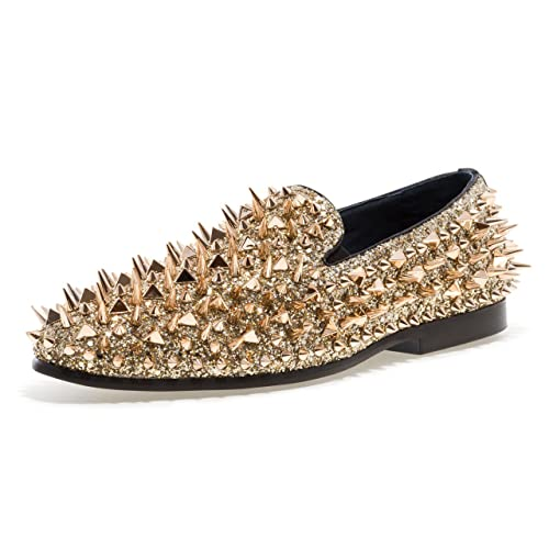 24175fea5174 Men s Loafers with Spikes  Amazon.com