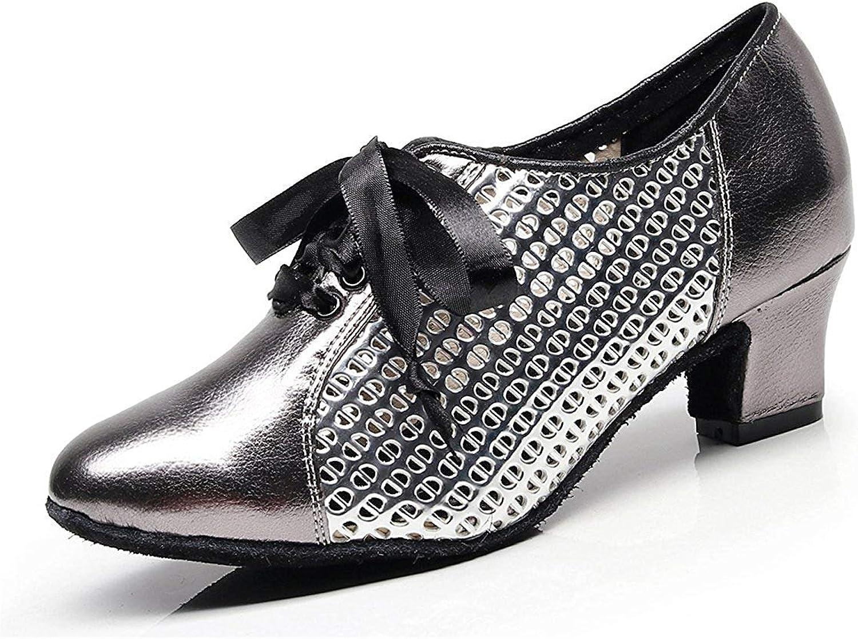 HhGold Damen Mesh Lace-up Grau Synthetische Chunky Low Heel Latin Ballroom Tanzen Pumps Abendschuhe UK 3.5 (Farbe   -, Größe   -)  | Auktion