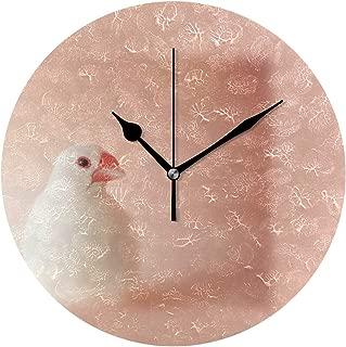 MIKA 白文鳥 壁掛け時計 おしゃれ 掛け時計 壁掛時計 ウォールクロック 掛時計 クロック デザイン時計 壁掛け 時計壁掛け時計