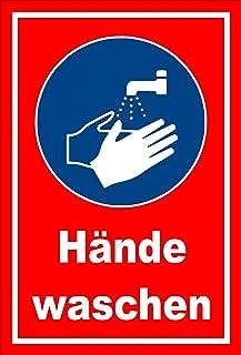 Melis Folienwerkstatt Aufkleber - Gebots-Zeichen - Hände waschen - entspr. DIN ISO 7010 / ASR A1.3 – 30x20cm – S00361-022-D  in 20 Varianten