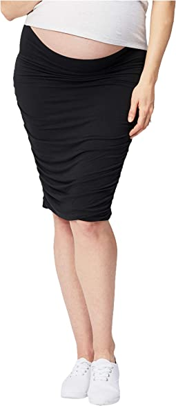 Maternity Ruched Fitted Skirt