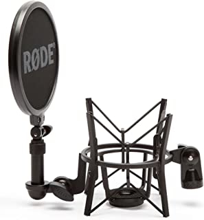 Rode SM6 - Soporte de micrófono con filtro anti pop integrado, negro
