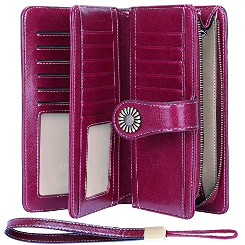 Student Zipper Phone Coin Purse,Ladies Long Wallet With Wrist Strap,Large Capacity Clutch Ladies Purse