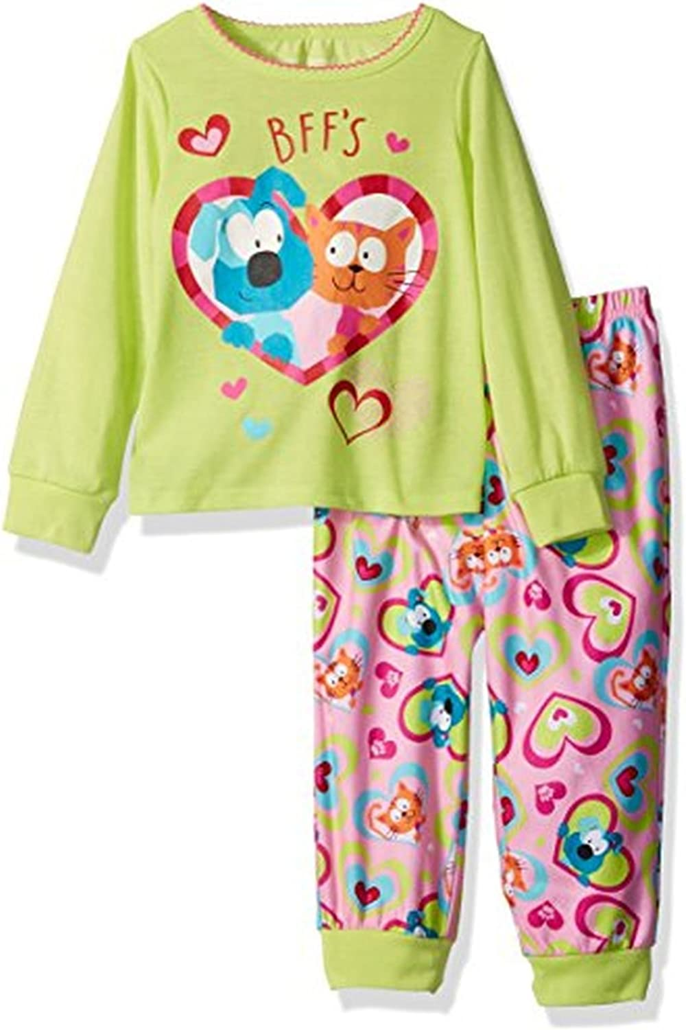 Toddler Girl's BFF Best Friends Cat and Dog Pajama Set