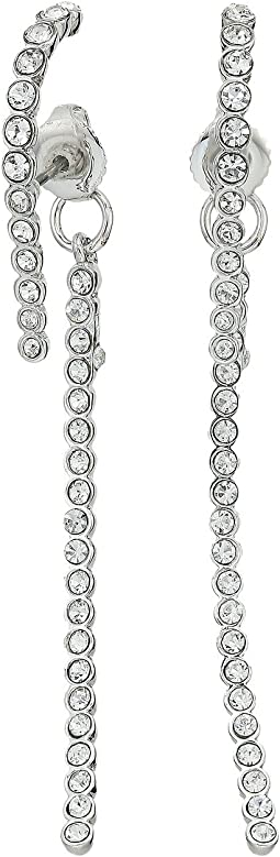 Vince Camuto - Pave Linear Lobe Earrings
