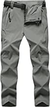 TBMPOY Men's Outdoor Quick Dry Hiking Pants Waterproof Climbing Camping Pants with Belt
