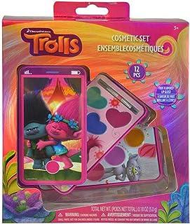 Dreamworks Trolls Lip Gloss Cosmetic Set for Girls Pretend Play Make Up Dress-up