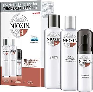 NIOXIN - Trial Kit (Champú Acondicionador y Tratamiento) Sistema 4- CABELLO COLOREADO_DEBILITAMIENTO AVANZADO_HIDRATACION...