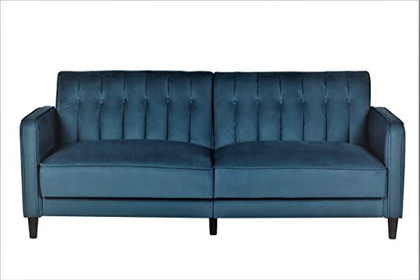 US Pride Furniture SB9030 Grattan Luxury Sofa Bed Teal Blue