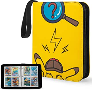 YINKE Case Binder for Pokemon Card, Game Cards, Holds Up to 400 Cards with 50 Premium 4-Pocket Page, Hard Organizer Carry ...