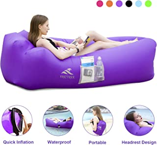 FRETREE Inflatable Lounger Air Sofa Hammock - Portable Anti-Air Leaking & Waterproof Pouch Couch and Beach Chair Camping Accessories for Parties, Travel, Camping, Picnics, Pool, Large