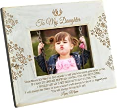 K KENON Engraved Wooden Frame for Daughter, Personalized Natural Wood Photo Frame Gift for Daughter Son Graduation Gift from Mom, from Dad (for Daughter from Mom)