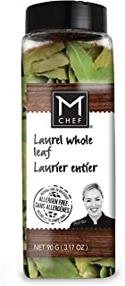 MCHEF Laurel Bay Leaves, Organic Kosher Non GMO Gluten Free Dried Herbs and Spices, Whole Leaf (3.17 oz)