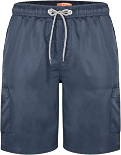 Kam Mens Big Size Plain Cargo Swim Shorts (334) in Size 2XL to 8XL, Multiple Options