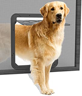 Lesypet Puerta giratoria para perros y gatos, tamaño grande