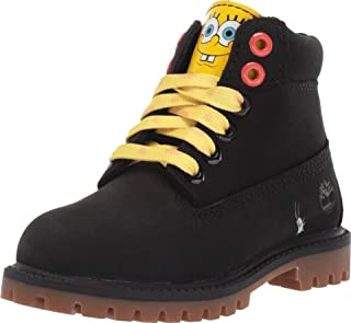 "Timberland Kids 6"" Premium Boot with Lined Tongue - Spongebob (Toddler/Little Kid)"