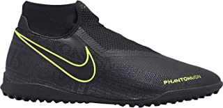Nike Men`s Soccer Phantom Vision Academy Dynamic Fit Turf Shoes (Black-Volt, Numeric_10)