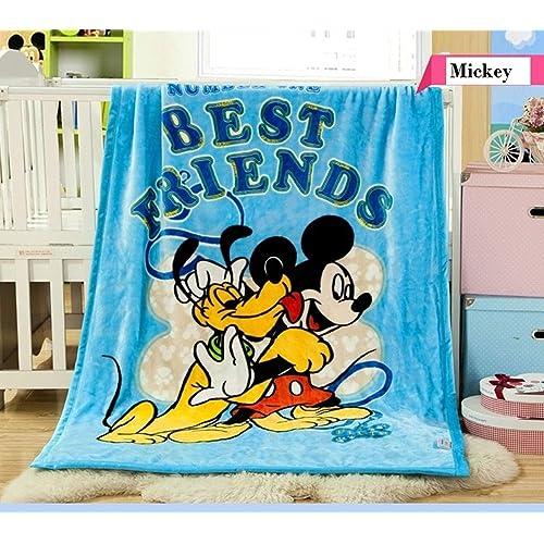 Baby Grow Kids Cartoon Flannel Blanket Throw 140 cm X 100cm (Best Frineds)