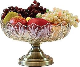 Kitchen Glass Fruit Bowl, Home Accessories Decoration Living Room Decoration Candy Dish Fruit Plate Lzpzz