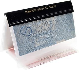 Charmoni - Porte Papiers Voiture - Forme Enveloppe - Pochette Permis De Conduire Carte Grise Assurance Carte d'identité - ...