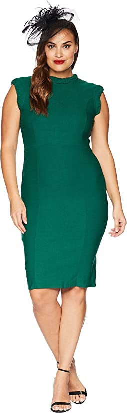 Plus Size High Collar Laverne Wiggle Dress
