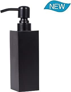 Soap Dispenser Kitchen Full Stainless Steel Countertop Dish Sink Dispenser Liquid Bottle Hand Wash Bathroom Rust Proof Pump 250ML (Black)